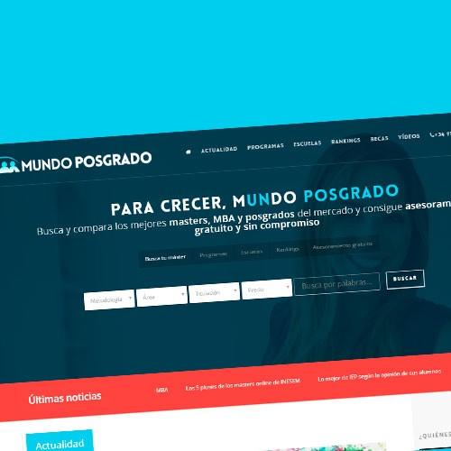 Diseño web portal de formacion con wordpress y optimizacion de la conversión